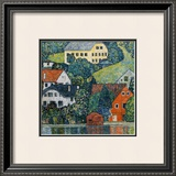 Houses at Unterach on the Attersee Framed Giclee Print by Gustav Klimt