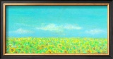 Sky, the Earth and Sunflower Field Framed Giclee Print by Miyuki Hasekura