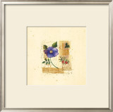 Flower Notes with Blue Poppy Prints by Audra Chaitram