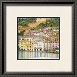 Malcesine on Lake Garda Framed Giclee Print by Gustav Klimt