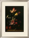 Bouquet de Fleurs Poster by Jean-michel Picart