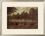 Evening Framed Giclee Print by Caspar David Friedrich