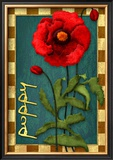 Poppy Flower Framed Giclee Print by Kate Ward Thacker