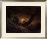 Two Men, Looking at the Moon Posters by Caspar David Friedrich