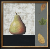 Pear and Leaves Prints by John Boyd