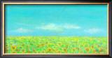 Sky, the Earth and Sunflower Field Framed Giclee Print by Miyuki Hasekura