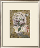 White Lily and Lace Print by David Hewitt
