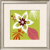 Vert Fleur Blanche Art by Olivia Cosneau