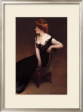 Woman Reclining in Black Dress Framed Giclee Print by John White Alexander