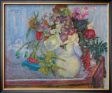 Mauve Bouquet Art by Pierre Bonnard