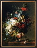 Still Life with Flowers, 1789 Prints by Cornelis van Spaendonck