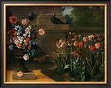 Vase de Fleurs et Parterre de Tulipes, 1744 Print by Jean-Baptiste Oudry