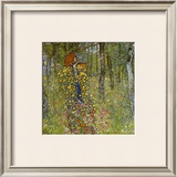 Farm Garden with Crucifix Framed Giclee Print by Gustav Klimt