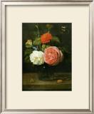 Bouquet de Roses avec Papaillons et Insectes Prints by Jacob Fopsen Van Es