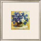 Blaue Blumen Serie Print by R. Bertram