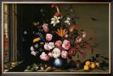 Vase de Fleurs a Cote d'Une Fenetre Print by Balthasar van der Ast