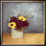 Pansies I Art by Anouska Vaskebova