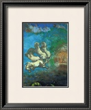 Apollo's Chariot Framed Giclee Print by Odilon Redon
