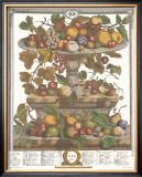 Twelve Months of Fruits, 1732, June Posters by Robert Furber