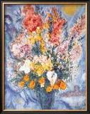 Bouquet des Fleurs Prints by Marc Chagall