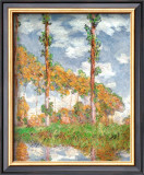 Poplars at Giverny Art by Claude Monet