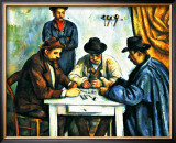 Card Players with Pipes Framed Giclee Print