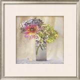Dahlia with Hydrangeas II Posters by Sally Wetherby