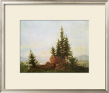 View of the Elbe Valley Framed Giclee Print by Caspar David Friedrich