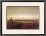 Greifswald in Moonlight Framed Giclee Print by Caspar David Friedrich