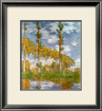 Poplars at Giverny Print by Claude Monet