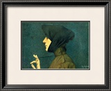 The Woman with a Gold Medallion Framed Giclee Print by Lucien Lévy-Dhurmer