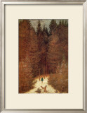 Chasseur in the Forest Framed Giclee Print by Caspar David Friedrich
