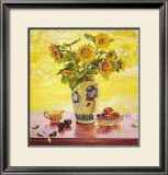 Sunflowers Print by Del Gish