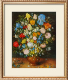 Flowers in a Brown Vase Prints by Jan Brueghel the Elder