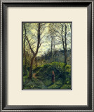 Landscape with Big Trees Print by Camille Pissarro