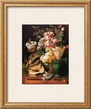 Roses et Autres Fleurs, Coquillages, Tete de Requin et Petrifications, c.1819 Prints by Antoine Berjon