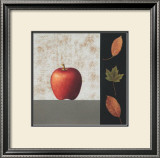 Red Apple and Leaves Prints by John Boyd