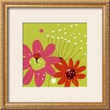 Vert Fleur Rose Prints by Olivia Cosneau