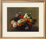 Flowers in a Basket Print by Henri Fantin-Latour