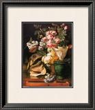 Roses et Autres Fleurs, Coquillages, Tete de Requin et Petrifications, c.1819 Posters by Antoine Berjon