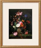 Bouquet de Fleurs dans un Vase de Pierre, 1677 Poster by Jacob van Walscapelle