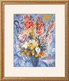 Bouquet des Fleurs Art by Marc Chagall