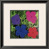 Flowers (Purple, Blue, Pink, Red) Posters by Andy Warhol