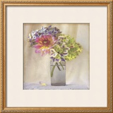 Dahlia with Hydrangeas II Prints by Sally Wetherby