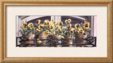 Yellow Pansies Poster by Mark Lee Goldberg