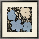 Flowers, c.1965 (Blue, Ivory) Art by Andy Warhol