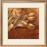 Copper Tulips II Art by Linda Thompson