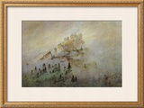 Morning Mist in the Mountains Framed Giclee Print by Caspar David Friedrich