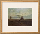 Evening by the Baltic Framed Giclee Print by Caspar David Friedrich