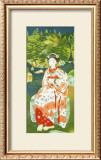 Japanese Woman in Kimono Framed Giclee Print